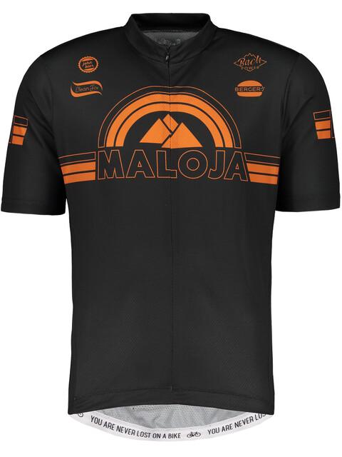 Maloja PlajetM. Short Sleeve Bike Jersey Men moonless